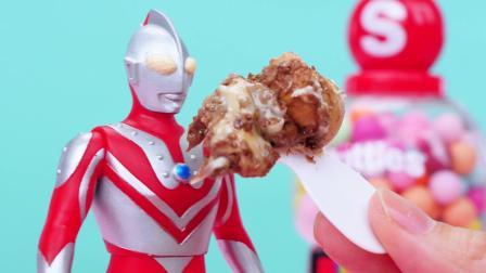 贝利亚糖果机薯条食玩!赛罗奥特曼迪士尼棒棒糖拆拆乐!