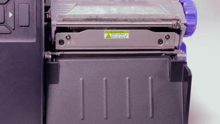 普印力自动识别 T4000 热转式标签打印机- 更换滚动条