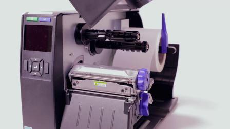 普印力自动识别 T4000 热转式标签打印机- 更换打印头