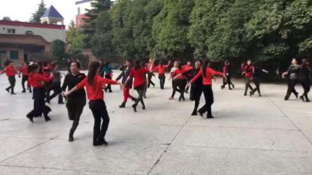 张玉龙教跳冬冬水兵舞十六套1-3节 纺织城舞团分组练习第一次教跳 10月18日