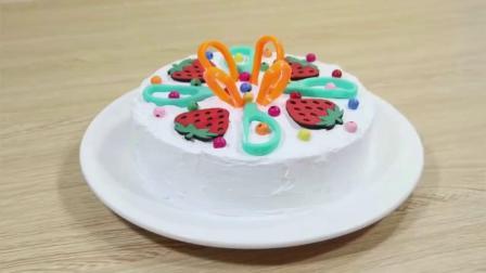 用文具做蛋糕