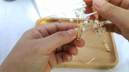T630胸针材料包视频教程 需要购买产品淘宝搜索(小虾米DIY手工坊)