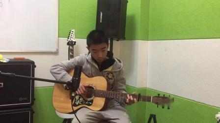 齐齐哈尔吉他培训班,鼎音艺术学校学员李子轩演奏视频