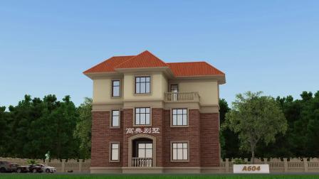 暖暖的砖红色三层别墅,配上落地窗,时刻给你一个温馨的家
