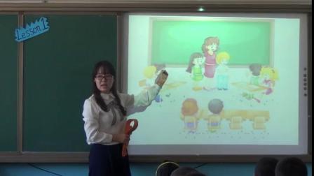 人教精通版三年级英语上册Unit 1 Hello! I'm MonkeyLesson 1-李老师优质公开课教学视频(配课件教案)