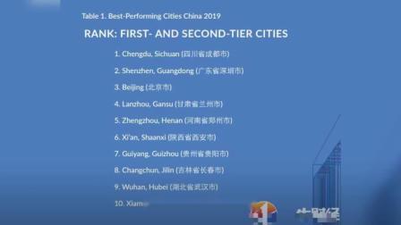 中国最佳表现城市排行榜公布!北京第3,深圳第2,它排名第1