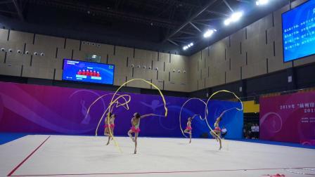 河北队 5带 少年集体单项决赛 - 2019全国艺术体操锦标赛