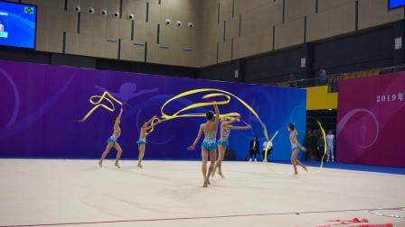 辽宁队 5带 少年集体单项决赛 - 2019全国艺术体操锦标赛