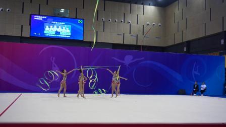 山东队 5带 少年集体单项决赛 - 2019全国艺术体操锦标赛