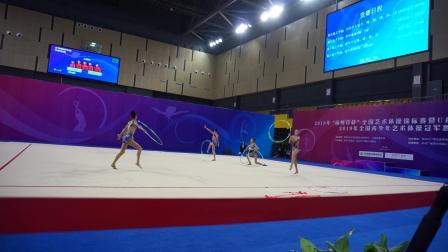 上海队 5圈 少年集体单项决赛 - 2019全国艺术体操锦标赛