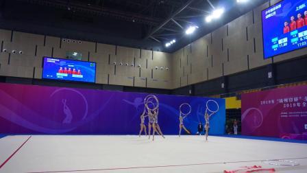 四川队 5圈 少年集体单项决赛 - 2019全国艺术体操锦标赛