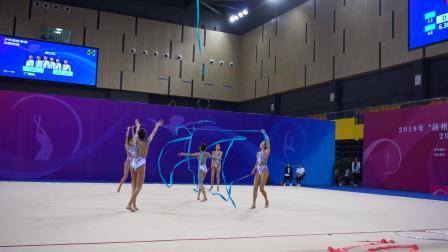 浙江队 5带 少年集体单项决赛 - 2019全国艺术体操锦标赛