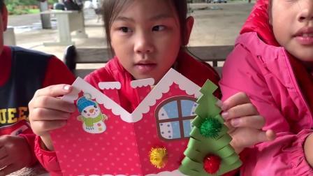 圣诞小卡片制作 亲手作DIY圣诞小卡片 在露营的时候很好玩哦 大家都做了不一样的圣诞卡片