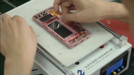 三星曲面屏系列S10热拆,普通压屏机贴合操作教学