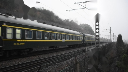 K4675次 SS80040 沪昆线K234KM大园里特大桥交会 K8402次 HXD1D0158