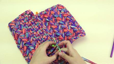 妍色手作----手工编织泫雅同款小香风包包小红书泫雅同款包钩针包新手视频教程【2】