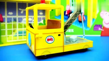 小猪佩奇的直升飞机与汽车玩具,少儿益智动画早教!!