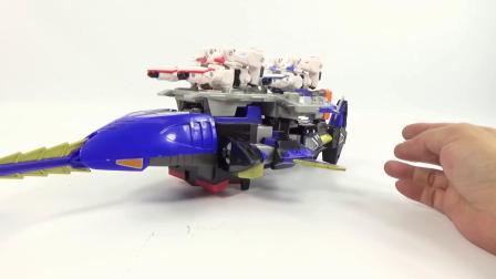 超星战舰太空航母超星神变形金刚机器人组装变形