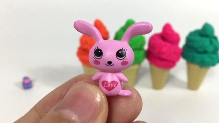彩色甜筒冰淇淋拆惊喜小猪佩奇
