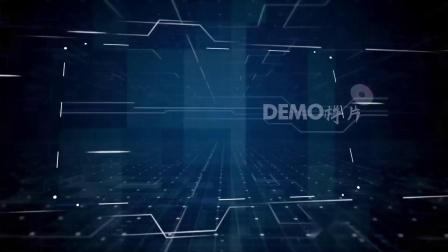 1582 震撼蓝色科技图文HUD全息投影企业商务文化宣传片展示视频AE模板