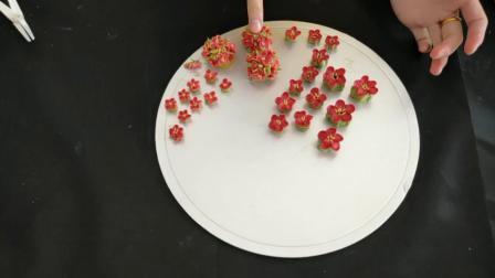 青豆老师教你韩式裱花蛋糕的另类技巧第七课(腊梅)