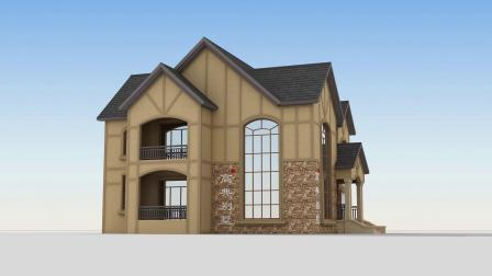 欧式两层小别墅,这样建复古典雅高贵