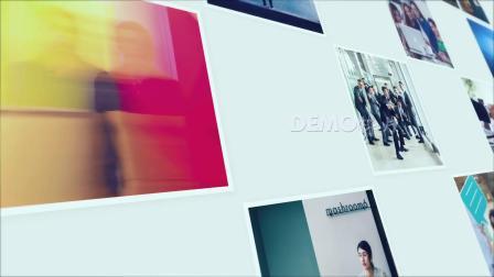 1655 可添加189张图片企业公司照片墙图片墙视频墙商务宣传片视频片头ae模板