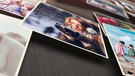 1652 可添加121张照片三维空间图片漂浮特效毕业纪念相册同学聚会同学会照片墙视频ae模板