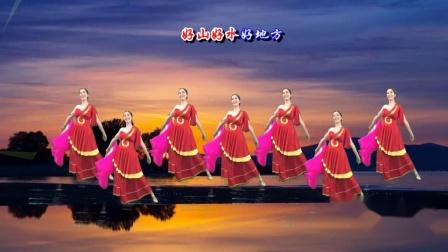 豪迈大气的大扇舞 我的祖国