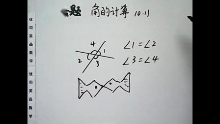 2019年10月四年级数学上册:角的计算专项训练,优司芙品数学