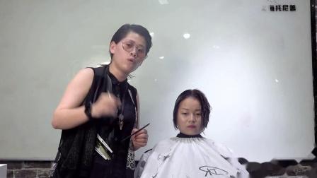 美发学校 海蒂老师剪裁原创 汤尼盖发型