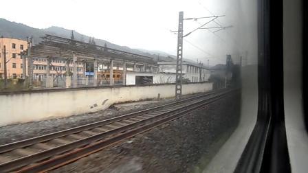 襄渝铁路3--列车K206次成都至青岛进武当山站【驻马店游者】