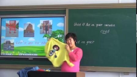辽师大版小学英语五年级上册Unit 11 Put on your sweater-谷老师优质公开课教学视频(配课件教案)