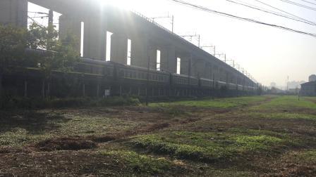 沪昆线 K576次通过杭州枢纽盈宁站