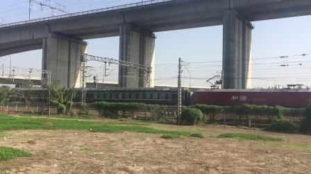 沪昆线 K833次通过杭州枢纽盈宁站