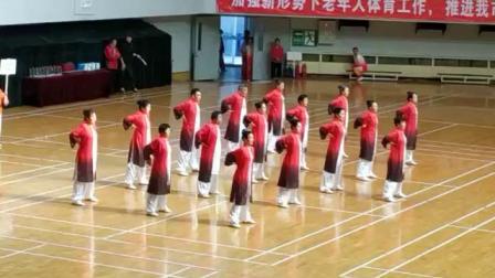 2019年北京第二十二届中老年优秀健身项目表演赛,中科院代表队的健身气功八段锦以全场最高分~9.042分的优异成绩荣获健身气项类第一名。<下>