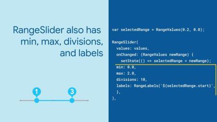 Slider, RangeSlider, and CuptertinoSlider (Flutter