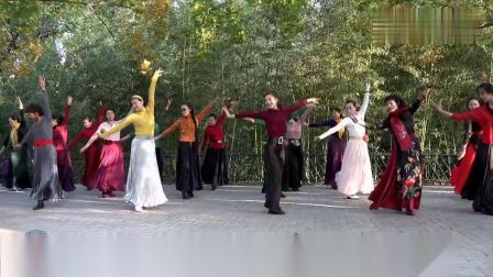 紫竹院广场舞《板蓝花儿开》,刚刚学会的一支新舞