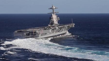 杰拉德·R·福特号航空母舰(CVN 78)大西洋海试高速转弯