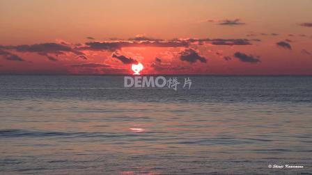 大屏幕 歌舞晚会 f364 2k画质大气壮观海水海洋晚霞夕阳西下日出日落实拍视频素材 视频特效 剪辑视频素材