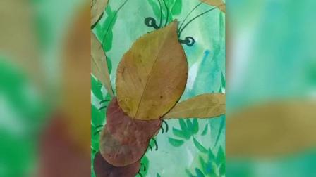 灵感大王创意美术 树叶画