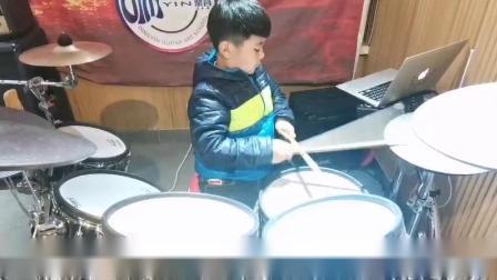 齐齐哈尔架子鼓培训机构,鼎音艺术学校学员王浩洋演奏视频