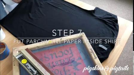 丝网印刷-给衣服印上喜欢的图案