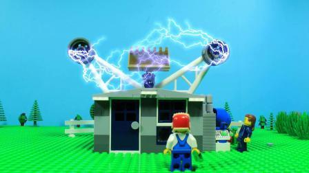 乐高定格动画砖楼-实验披萨餐厅-灵感DIY满意动画