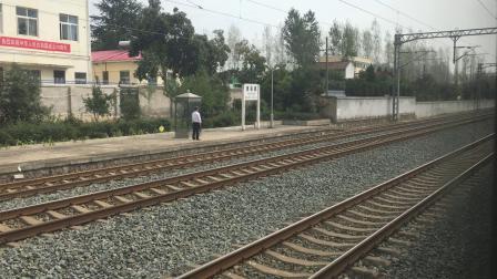 (车厢视角)客车K1297次在唐县镇站待避动车D5273次