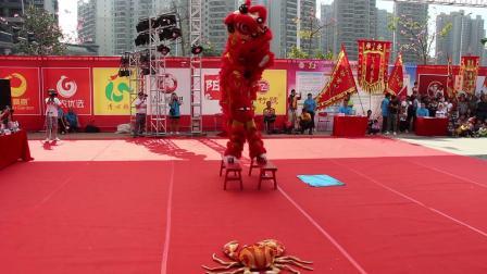 2019年清远市第一届狮王争霸赛  传统狮4 佛冈县石角镇小梅龙狮团 MVI_6264