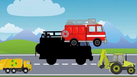 挖土机挖土机拖拉机消防车垃圾车