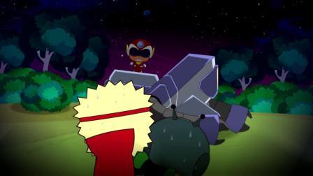开心超人:大大怪敲了几下复印机怪兽,结果出来了一个开心超人!摩天轮故障了转的特别快,开心超人救下了掉下来的市民!