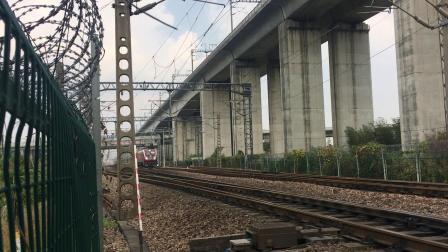沪昆线 K1185次通过杭州枢纽盈宁站