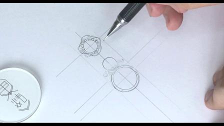 【珠宝设计手绘入门】设计篇 -金珍珠戒指